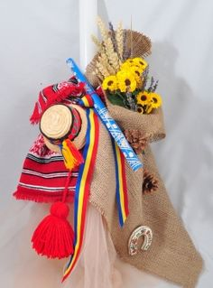 Lumanare de Botez Traditional Romaneasca Christening, Baby Boy, Reusable Tote Bags, Handmade, Diy, Wedding, Party Ideas, Decorations, Sunflowers
