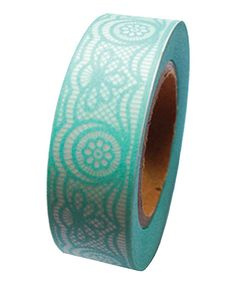 Look at this Turquoise Lace Washi Tape - Set of Two on #zulily today!