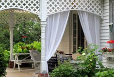 With a Grateful Prayer and a Thankful Heart: Re-purposed Curtains for the Patio
