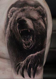 Osos diseños | Skulls | Tattoos, Animal tattoos, Grizzly