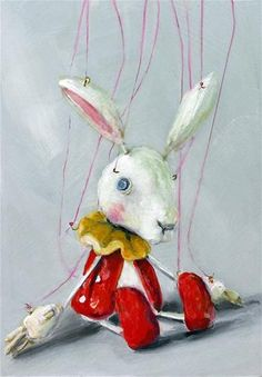 "Daily Paintworks - ""sakuma sota marionette Rabbit II"" - Original Fine Art for Sale - © Sunny Avocado"