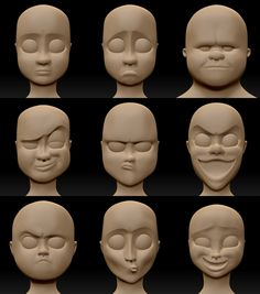 Most recent No Cost Clay sculpture people Strategies Heads sketched with ZBrush Polymer Clay Kunst, Polymer Clay Sculptures, Polymer Clay Dolls, Sculpture Clay, Polymer Clay Crafts, Polymer Clay People, Ceramic Sculptures, Sculpting Tutorials, Art Tutorials
