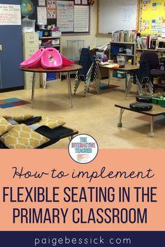 Flexible Seating in the Primary Classroom First Grade Classroom, Primary Classroom, Classroom Resources, Classroom Decor, Work Folders, Writing Folders, Special Education Teacher, Teacher Blogs, Creative Teaching