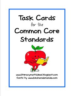 Literacy & Math Ideas: Common Core Standards Task Cards for Each Grade Level!