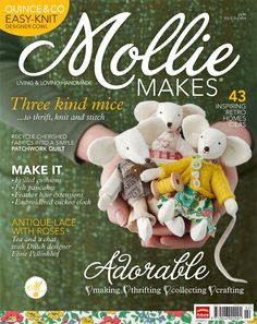 Must track down this copy of Mollie Makes...just adore those mice!