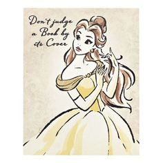 """Home Decor- Quotes: Belle the princess quote wall art don't judge a book by it's cover  Belle Fashionista Quote Canvas Wall Art, 11"""" x 14"""" //  $12.99 Quote Canvas, Quote Wall, Wall Art Quotes, Canvas Wall Art, Fashionista Quotes, Princess Quotes, Home Decor Quotes, Don't Judge, Wall Decor"""