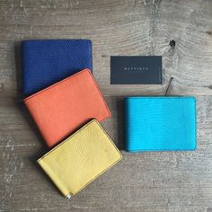 #METTIQUE #handstitch #leatheronly  #METTIQUE TL-S1 and TL-M wallets in matte lizard with Italian cowhide linings, #handstitched with bees waxed thread.   WWW.METTIQUE.COM