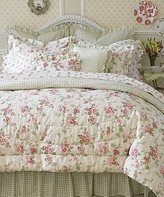 Laura Ashley Yorkshire Rose 4-piece Comforter Set | Overstock.com Shopping - Great Deals on Comforter Sets