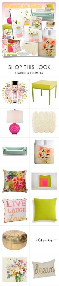 """""""Must Have Been A Dream??"""" by qrystal5to9 ❤ liked on Polyvore featuring interior, interiors, interior design, home, home decor, interior decorating, Stray Dog Designs, H&M, Universal Lighting and Decor and Joybird"""