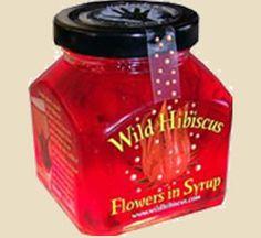 Wilde Hibiskusblüten in Sirup, 11 Blüten