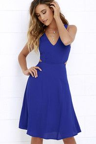 River Boat Cobalt Blue Midi Dress at Lulus.com!