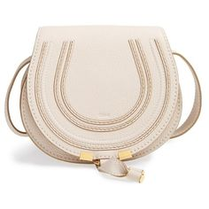 Women's Chloe 'Mini Marcie' Leather Crossbody Bag ($890) ❤ liked on Polyvore featuring bags, handbags, shoulder bags, purses, abstract white, purse crossbody, leather cross body purse, leather purses, leather crossbody purses and leather crossbody