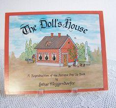 Vintage Pop-Up Book The Doll's House Reproduction of Lothar Meggendorfer Illustrations 1978