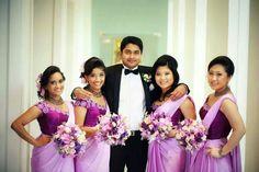 Love the colour of those sarees. By Sharmini Ovitigama.