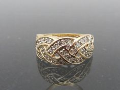 Vintage Solid YG Diamond Twisted Band Ring Size by on Etsy 14k Gold Ring, Band Rings, Solid Gold, Class Ring, Trending Outfits, Diamond, Unique Jewelry, Handmade Gifts, Vintage