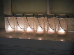 Hanging Mason Jar Lanterns  Wedding Candle by CrownedWithBeauty, $64.00