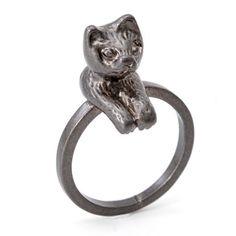Stylish Cat Shape Design Ring For Women