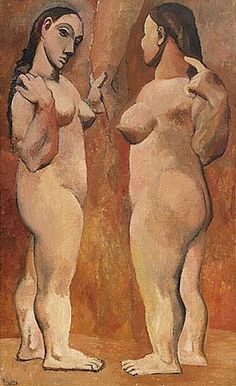 9.PabloPicasso-Two-Nudes-1906