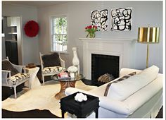 Living Room furniture setting is lovely. Having the Fireplace makes it all nice and cozy.