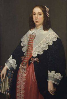 JAN ANTHONISZ VAN RAVESTEYN Portrait of a lady, standing three-quarter