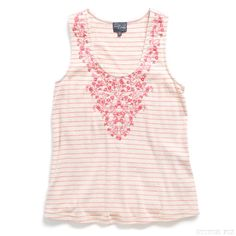Bianca Embroidery Detail Jnit Tank from Stitch Fix