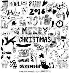 Resultado de imagen de doodle merry christmas