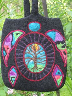 Creation  Black wool felted purse with by CrazyFingerFibers, $134.99