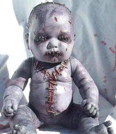 Halloween scary baby