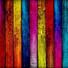 Beautiful brilliant colors on Wood