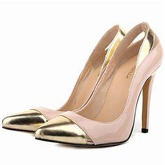 Hegyes orrú - Stiletto - Női cipő - Magassarkú - Ruha - Bőrutánzat -Fekete   8cc52a38ee