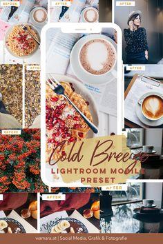 Mit dem Lightroom Mobile Preset Cold Breeze verleihst du deinen Bildern eine visuelle Einheitlichkeit. Perfekt für deinen privaten Instagram Account oder deinen Unternehmensaccount. Ein Social Media Tipp, den du dir unbedingt merken solltest. :) Instagram Feed, Lightroom, Corporate Design, Breeze, Cold, Cool Stuff, Social Media, Image Editing, Things To Do