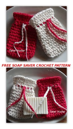 Free Crochet Pattern Soap Saver, If you have some yarn, a crochet hook and a few minutes of time, you can make an adorable little gift. Crochet Case, All Free Crochet, Easy Crochet Patterns, Crochet Gifts, Crochet Hooks, Knitting Patterns, Fashion Kids, Adele, Home Design