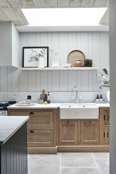 60 Contemporary Wooden Kitchen Cabinets For Home Inspiration. Choosing the perfect wooden kitchen cabinets for your home is not as simple as it might appear. While the choices are limited, . Farmhouse Style Kitchen, Modern Farmhouse Kitchens, Country Kitchen, New Kitchen, Cool Kitchens, Kitchen Decor, Kitchen Ideas, Awesome Kitchen, Country Living