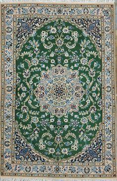 """Buy Nain Persian Rug 3' 1"""" x 4' 9"""", Authentic Nain Handmade Rug"""