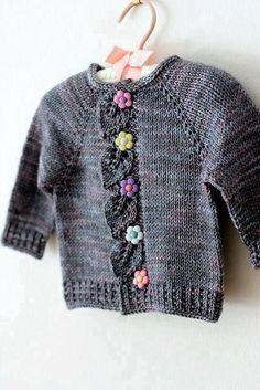 29 ideas knitting dress girl pattern link for 2019 Baby Knitting Patterns, Knitting For Kids, Crochet For Kids, Baby Patterns, Crochet Patterns, Free Knitting, Dress Patterns, Crochet Baby Cardigan, Baby Girl Crochet