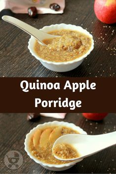 Try something different than oatmeal by making this Quinoa Apple Porridge for your kids! Packed with fruit and whole grain, this is the perfect breakfast!