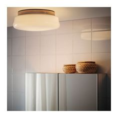 IKEA - ÖSTANÅ, Ceiling/wall lamp, white, Gives a diffused light which is good for spreading light into larger areas of a bathroom. Tested and approved for bathroom use. Ikea Wall, Ikea Family, At Home Furniture Store, Room Lamp, Led Lampe, Diffused Light, Affordable Furniture, Cleanser, Home