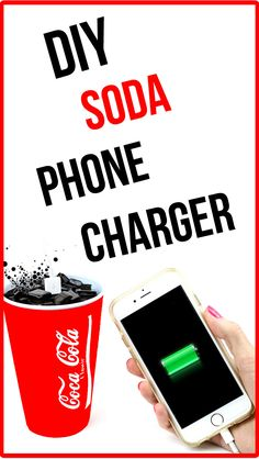 DIY Crafts: Coca Cola Phone Charger - Soda DIYs - Cool DIY Project! Coke, Pepsi, Fanta, A & W Rootbeer, Mountain Dew & more!  Learn how to make a DIY phone charger that is inspired by soda. In this ea
