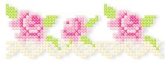 "Kreuzstich mit der Stickmaschine 13x8 / 5x7"" Machine embroidered cross stitch"
