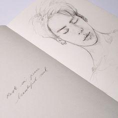Jonghyun, SHINee, and kim jonghyun image White Aesthetic, Kpop Aesthetic, Hyuna Photoshoot, Shinee Jonghyun, Kpop Drawings, Kpop Fanart, Design Crafts, Illustration Art, Landscape Illustration