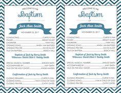Printable Baptism Program LDS Girl Boy By Brendaneuberger On Etsy
