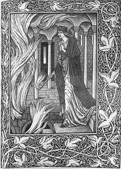 "Kelmscott Press edition of William Morris's epic poem, ""The story of Sigurd the Volsung and the fall of the Niblungs."" The text was published first in 1876"