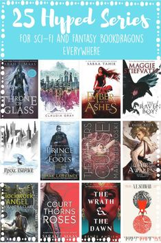 25 Hyped Series for Sci-Fi and Fantasy Bookdragons Everywhere – Nicolette Elzie Adult Fantasy Books, Fantasy Books To Read, Best Fantasy Book Series, Best Fantasy Romance Books, Sci Fi Book Series, Writing Fantasy, Ya Books, Book Club Books, Good Books