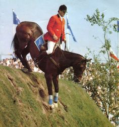Love the position of the horse and rider as they tackle the infamous hickstead hill!