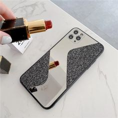 Glitter Mirror Cute Phone Case For iPhone 11 Pro Max XS Max XR X 7 8 Plus SE 2020 11Pro Retro Cute Sequins Fundas Back Cover | Touchy Style Glitter Phone Cases, Cute Phone Cases, Iphone Phone Cases, Iphone 8 Plus, Iphone 11, Glitter Mirror, Iphone Models, Candy Colors, Colored Diamonds