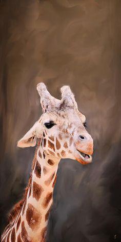 Stand Tall - Giraffe Art