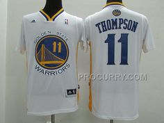 Warriors 11 Klay Thompson White Short Sleeve Jersey Discount 7b91a061e
