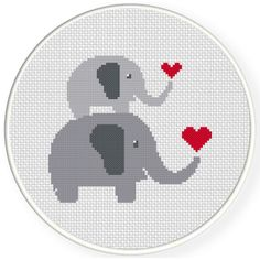 FREE for June 3rd 2016 Only - Mother And Child Elephant Love Cross Stitch Pattern