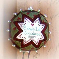 Folded Star Cross Stitch Ornaments   Craftsy Quilted Christmas Ornaments, Christmas Embroidery, Christmas Gnome, Christmas Balls, Christmas Stuff, Christmas Ideas, Christmas Crafts, Folded Fabric Ornaments, Beaded Ornaments