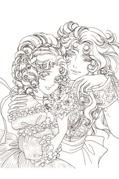 The Rose of Versailles Princess Coloring Pages, Cute Coloring Pages, Animal Coloring Pages, Adult Coloring Pages, Coloring Sheets, Print Pictures, Colorful Pictures, Lady Oscar, Vintage Coloring Books